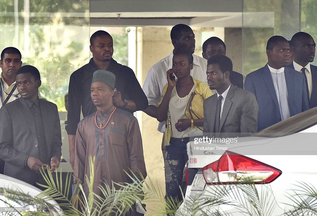 African Student Association members and Embassy officials arrive for meeting with External Affairs Minister Sushma Swaraj at Jawaharlal Nehru Bhawan on May 31, 2016 in New Delhi, India. Sushma Swaraj said that the death of Congolese national Masonga Kitanda Olivier is painful, but stressed that is not a case of racial attack and should not be seen in that context. She said that her ministry will initiate programs aimed at sensitising locals about African students in areas where their numbers are high. Congolese national Olivier was beaten to death by three men in South Delhis Vasant Kunj earlier this month.