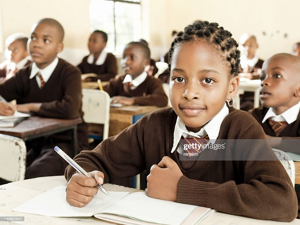 African Students at School : Stock Photo