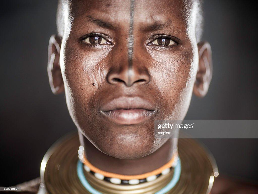 African Tribal Portrait
