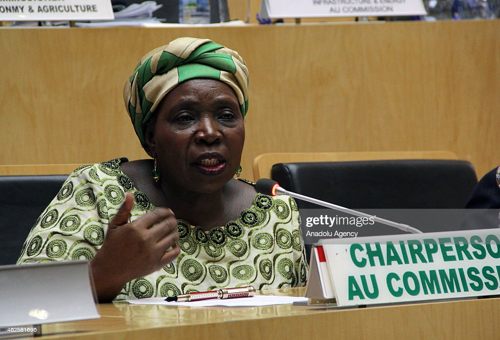 African Union Chairperson <a gi-track='captionPersonalityLinkClicked' href=/galleries/search?phrase=Nkosazana+Dlamini-Zuma&family=editorial&specificpeople=752696 ng-click='$event.stopPropagation()'>Nkosazana Dlamini-Zuma</a> delivers a speech during a press conference as part of the 24th Summit of the African Union in Addis Ababa, Ethiopia on January 31, 2015.