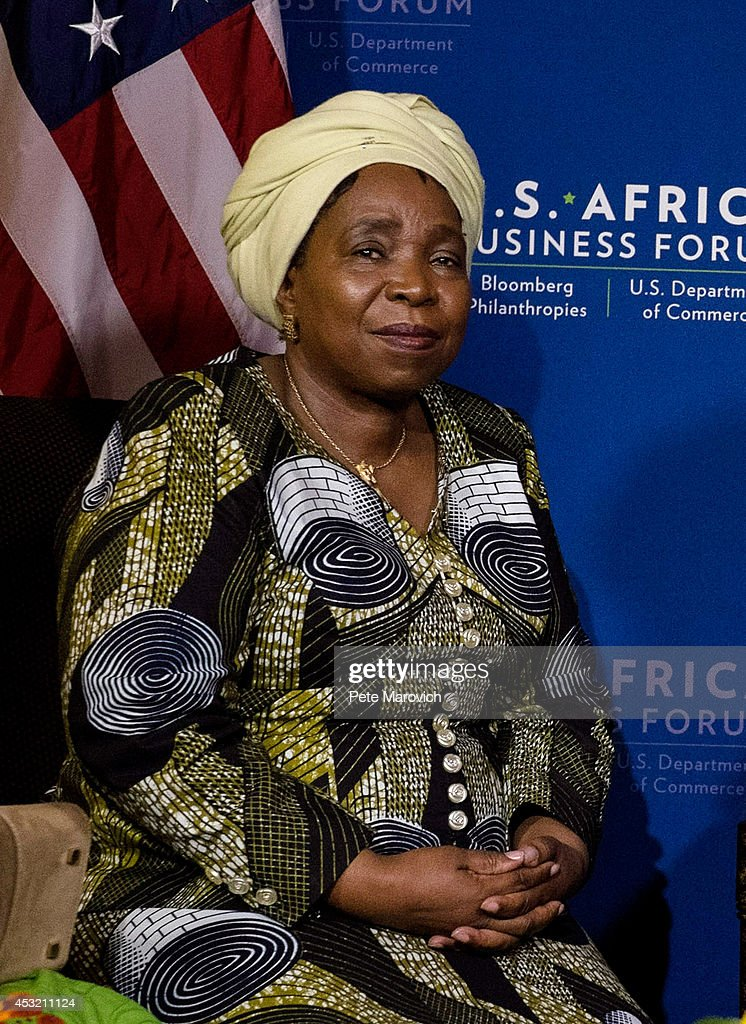 African Union Commission Chairperson Dr. <a gi-track='captionPersonalityLinkClicked' href=/galleries/search?phrase=Nkosazana+Dlamini-Zuma&family=editorial&specificpeople=752696 ng-click='$event.stopPropagation()'>Nkosazana Dlamini-Zuma</a> meets with U.S. Secretary of State John Kerry at the Mandarin Oriental Hotel as part of the first U.S.-Africa Leaders Summit on August 5, 2014 in Washington, DC. The event brings together U.S. and African government leaders, members of African and U.S. civil society and the diaspora, and private sector leaders, focusing on using the knowledge and experience of citizens and civil society to solve the key challenges of our time.
