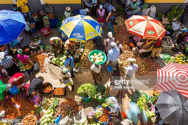 African vegetable market Assomada, Santiago Island