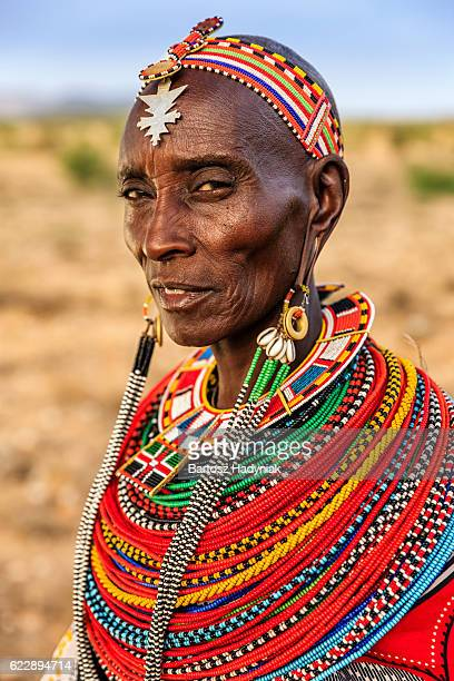 African woman from Samburu tribe, Kenya, Africa