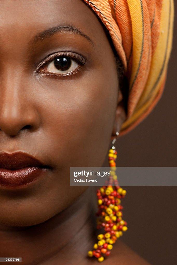 African woman half portrait : Stock Photo