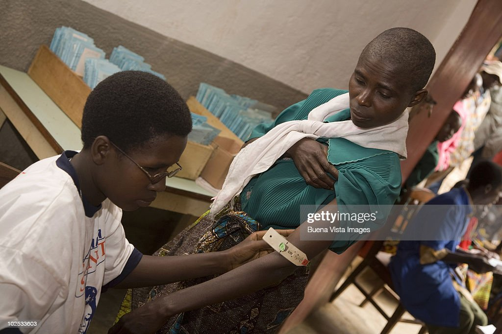African woman in a medical center. : Stock Photo
