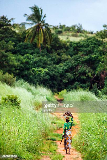 African woman on the road. Benin.