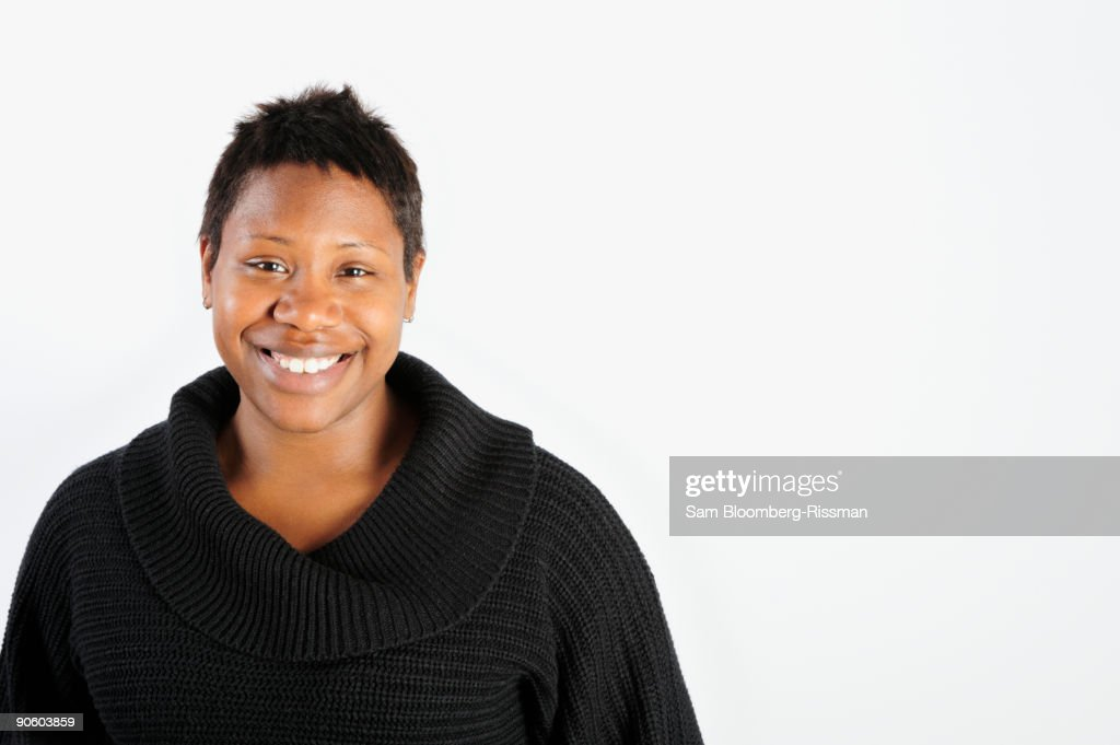 African woman smiling : Stock Photo