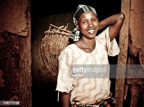 African Woman with a Basket