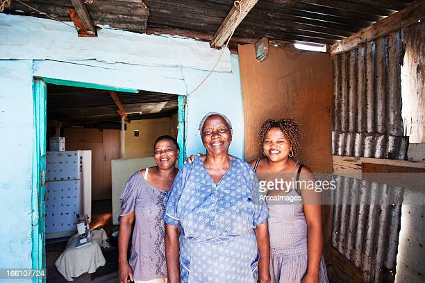 African Women outside their Home