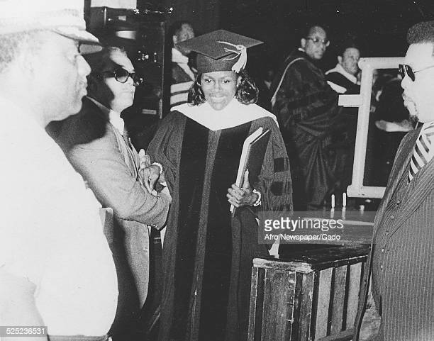AfricanAmerican actress Cicely Tyson receiving an honorary degree at Morgan State University Baltimore Maryland May 1979