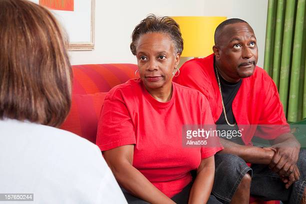 African-american couple at the marriage counselor