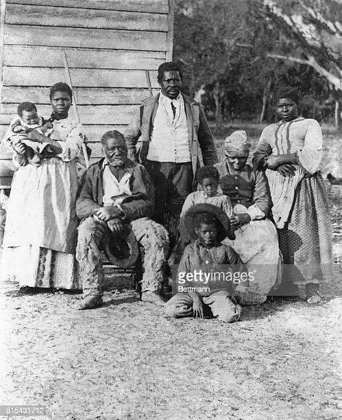 AfricanAmerican family representing four generations all born on the plantation of J J Smith Beaufort South Carolina Photo by T H O'Sullivan ca 1890