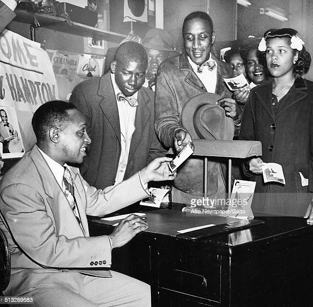 AfricanAmerican jazz vibraphonist pianist percussionist bandleader and actor Lionel Hampton May 11 1946