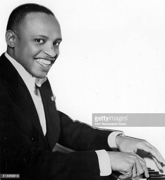 AfricanAmerican jazz vibraphonist pianist percussionist bandleader and actor Lionel Hampton 1955