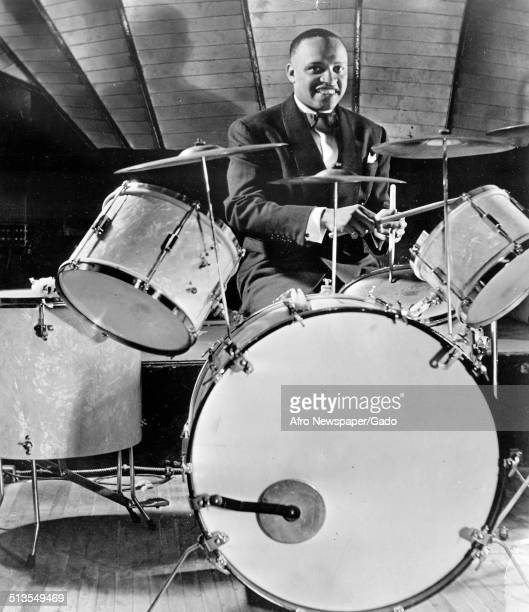 AfricanAmerican jazz vibraphonist pianist percussionist bandleader and actor Lionel Hampton 1957