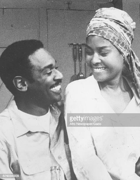 AfricanAmerican jazz vocalist songwriter and actress Abbey Lincoln and Ivan Dixon March 22 1983