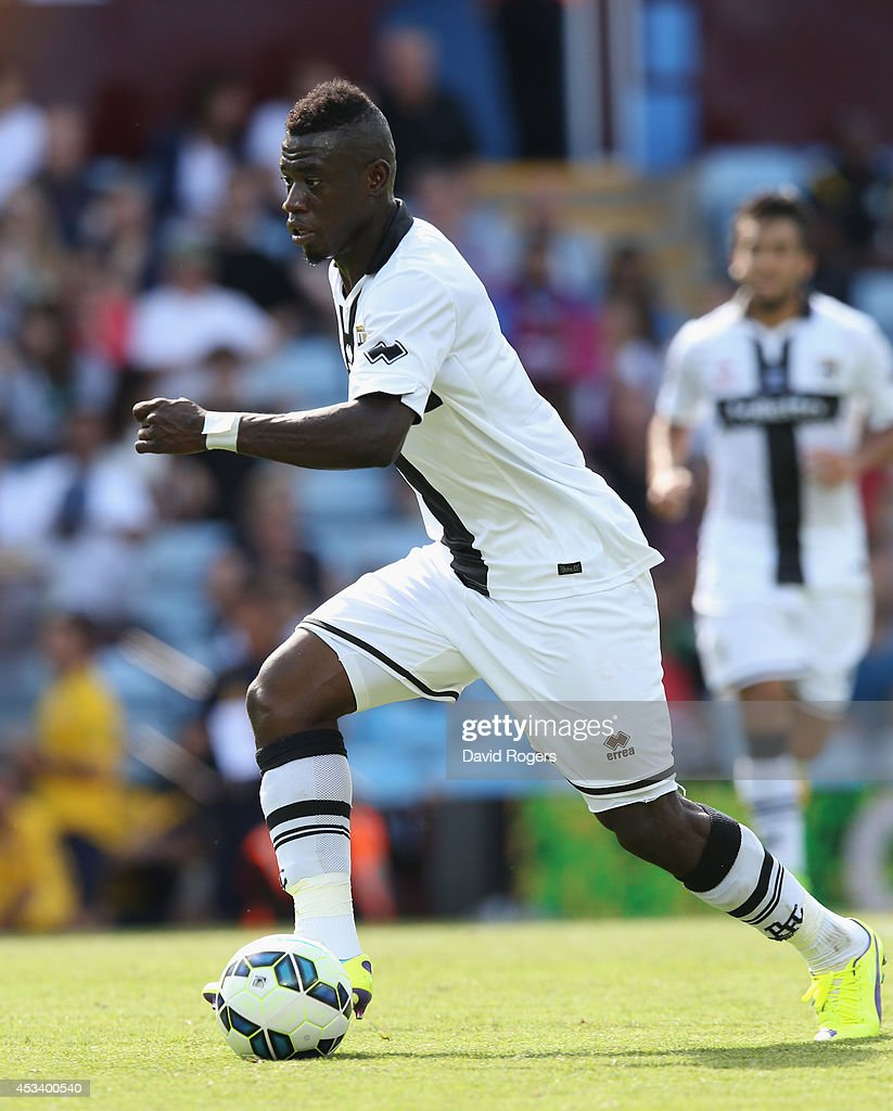 <a gi-track='captionPersonalityLinkClicked' href=/galleries/search?phrase=Afriyie+Acquah&family=editorial&specificpeople=7098690 ng-click='$event.stopPropagation()'>Afriyie Acquah</a> of Parma runs with the ball during the pre season friendly match between Aston Villa and Parma at Villa Park on August 9, 2014 in Birmingham, England.
