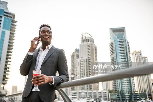 Afro american Business man take a selfie