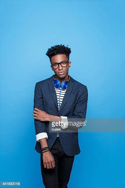 Afro american guy in fashionable outfit