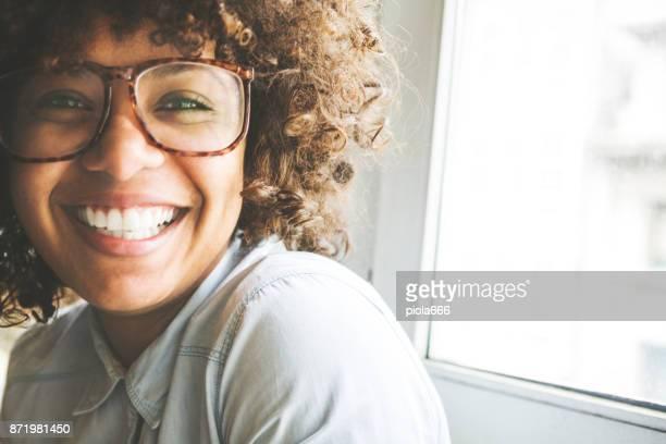 Afro hair girl portrait