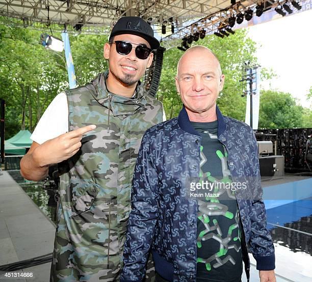 Afrojack and Sting on ABC's 'Good Morning America' at Rumsey Playfield on June 27 2014 in New York City