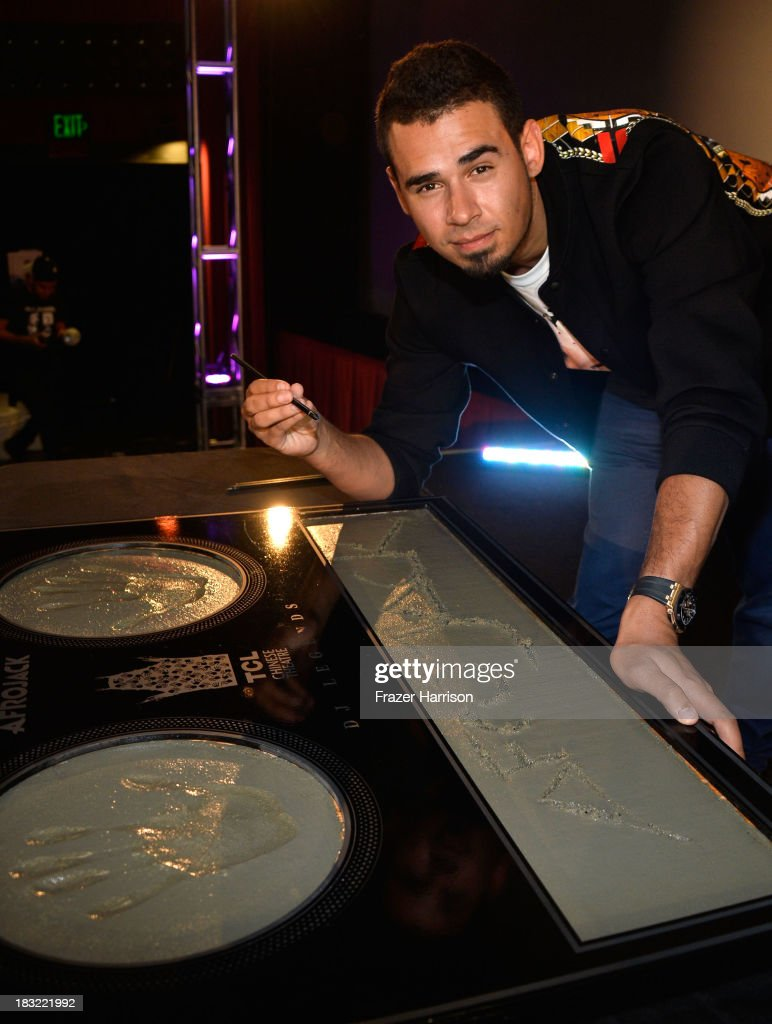 Afrojack Immortalized With Hand And Footprint Ceremony At The TCL Chinese
