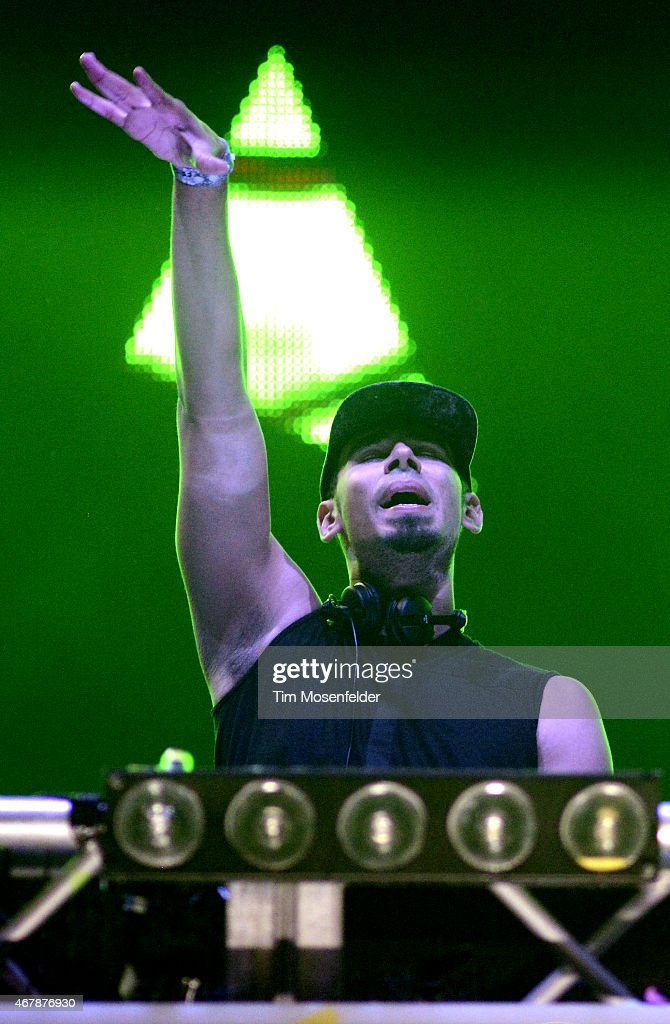 Afrojack performs during the Ultra Music Festival at Bayfront Park Amphitheater on March 27 2015 in Miami Florida