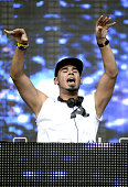 Afrojack performs during the Ultra Music Festival at Bayfront Park Amphitheater on March 30 2014 in Miami Florida