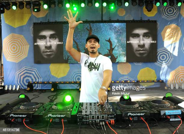 Afrojack performs on ABC's 'Good Morning America' at Rumsey Playfield on June 27 2014 in New York City