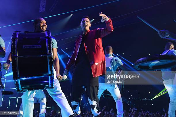 Afrojack performs on stage at the MTV Europe Music Awards 2016 on November 6 2016 in Rotterdam Netherlands