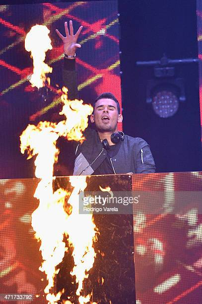 Afrojack performs onstage at the 2015 Billboard Latin Music Awards presented bu State Farm on Telemundo at Bank United Center on April 30 2015 in...
