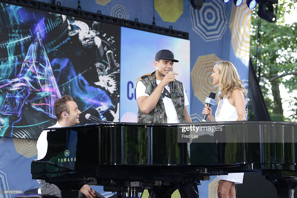 AMERICA - Afrojack performs with special guest Wrabel as part of the Summer Concert Series on 'Good Morning America,' 6/27/14, airing on the ABC Television Network.