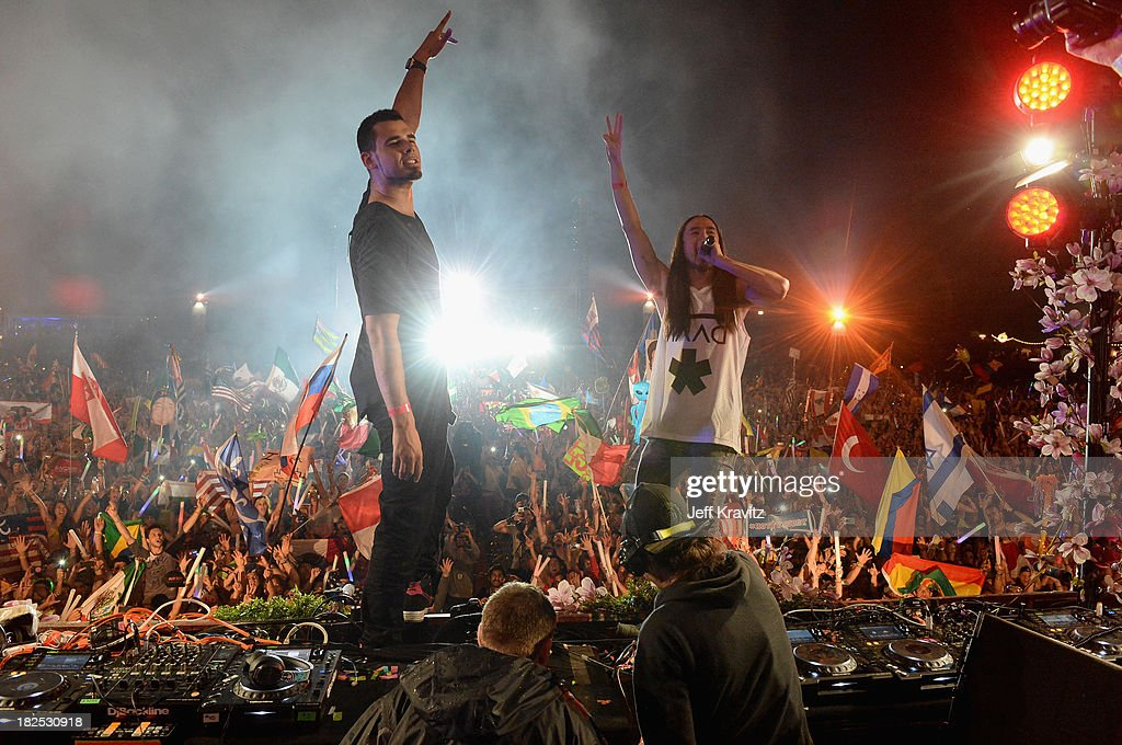 Afroki spin onstage at TomorrowWorld Electronic Music Festival on September 28, 2013 in Chattahoochee Hills, Georgia.