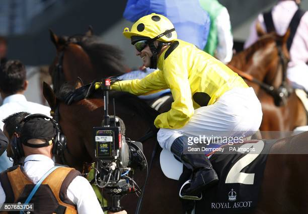 Afsare ridden by Kieren Fallon after winning the Hampton Court Stakes during Ladies day at Royal Ascot