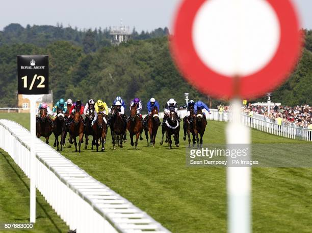 Afsare ridden by Kieren Fallon wins the Hampton Court Stakes during Ladies day at Royal Ascot