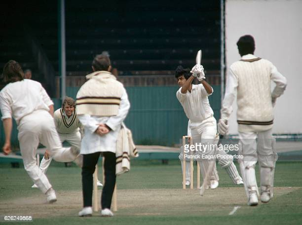 Aftab Gul batting for Pakistan during the tour match between Hampshire and the Pakistanis at the United Services Ground Portsmouth 13th May 1971...