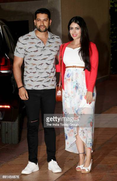 Aftab Shivdasani and Nin Dusanj at Tusshar Kapoor's son Laksshya's first birthday bash in Mumbai