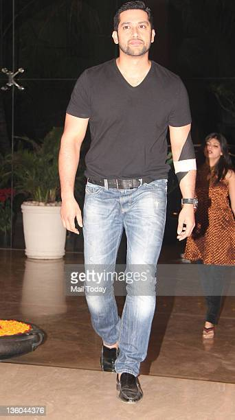 Aftab Shivdasani during Farah Khan's house warming bash in Mumbai on December 20 2011