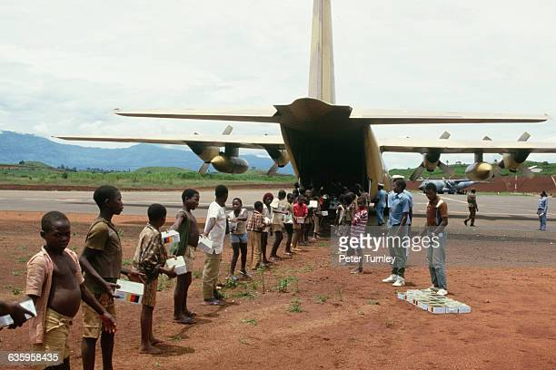 After 1746 villagers died in a volcanic disaster at Lake Nyos Israel flew relief supplies to nearby Bamenda