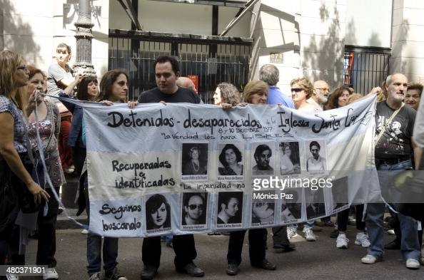 After 38 years of Argentina's last putsch and celebrating 30 years of democratic government people join are still trying to find missing relatives...