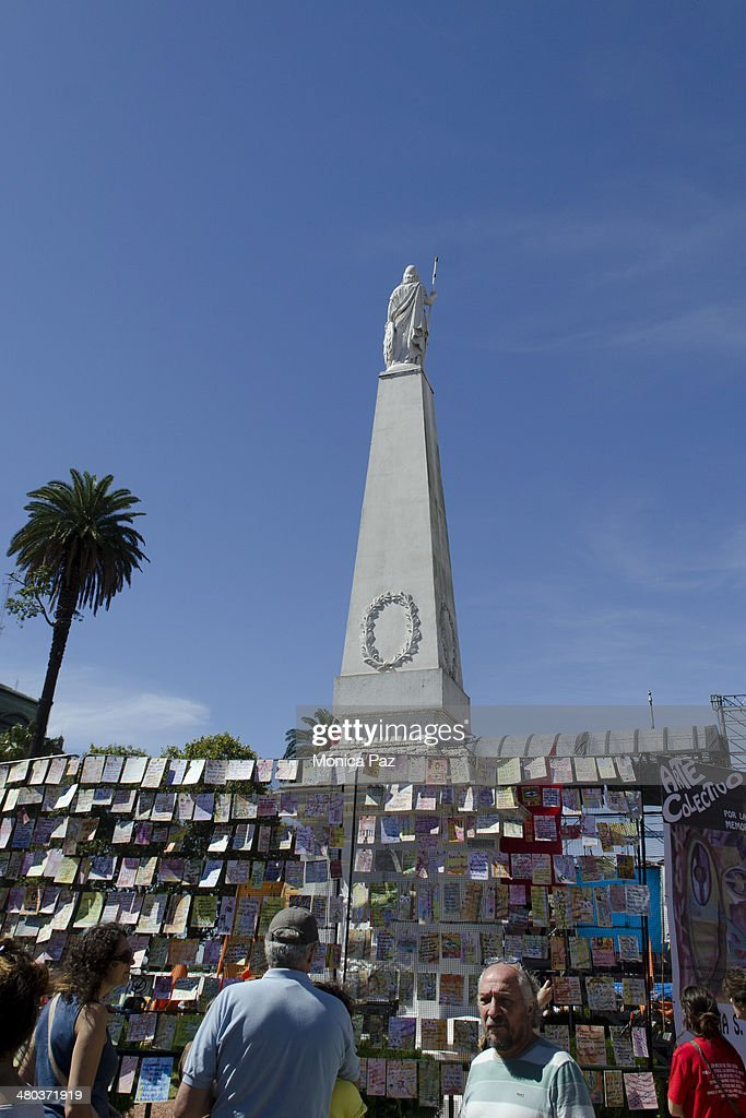 After 38 years of Argentina's last putsch and celebrating 30 years of democratic government people join Madres de Plaza de Mayo Abuelas de Plaza de...