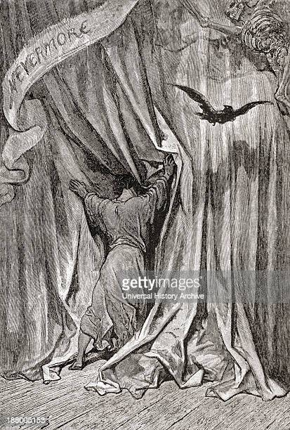 After A Drawing By Gustave Dore For Edgar Allan Poe's Poem The Raven From Life And Reminiscences Of Gustave Dore Published 1885
