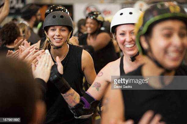 After a roller derby bout appreciation
