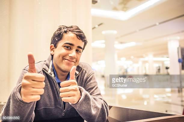 After a Successful Speech - Success - Thumbs Up