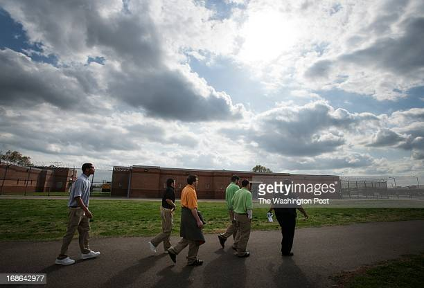 After class inmates enrolled in a Russian literature class are escorted back to their units at Beaumont Juvenile Correctional Center in Beaumont VA...