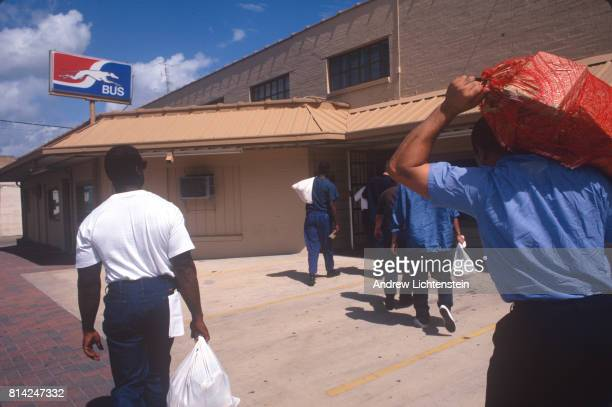 After finishing their sentences prisoners are released from the Texas prison system on September 15 2000 in Huntsville Texas All prisoners are...
