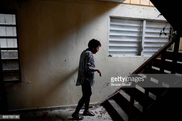 After her husband's funeral service Ana Ruiz returned to her home where the couple had lost everything on the first floor and much of what was on the...