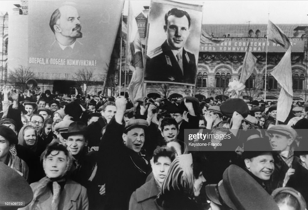 After His Space Flight Of April 12, Moscovians Celebrated Yuri Gagarin On Red Square On April 17Th 1961.