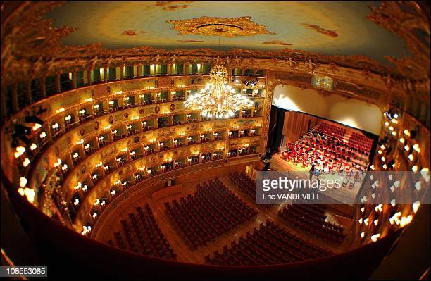 After it burned to the ground 8 years ago the famed theater La Fenice rises from the ashes again in Venice Italy on December 13th 2003