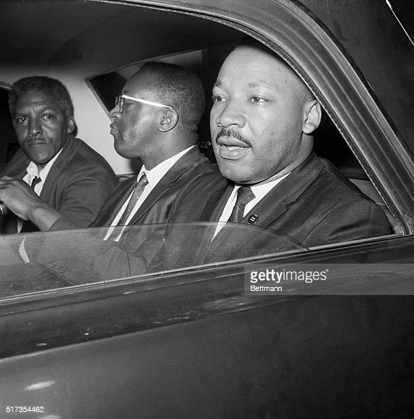 After meeting with New York Mayor Wagner to discuss racial tension in Harlem and Brooklyn Dr Martin Luther King Jr Bayard Rustin and Rev Bernard Lee...